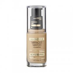 Max Factor Fondotinta Miracle Match 77 Soft HoneyTrasforma il tuo look con una pelle impeccabile e nutrita* dal colore