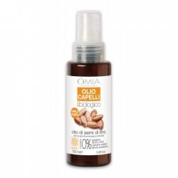 Olio capelli olio di semi di Lino Omia LaboratoiresOlio capelli semi di Lino Omia Laboratoires, formula antirottura e