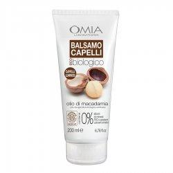 Omia - Balsamo capelli olio di macadamia 200 mlECO-BIO COSMETICO CERTIFICATO. FORMULA RIPARATRICE INTENSIVA E LEGGERA: