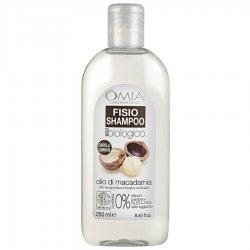 Omia - Fisio shampoo olio di macadamia 250 mlECO BIO COSMETICO CERTIFICATO FORMULA SENZA SALE AGGIUNTO Formulazione se