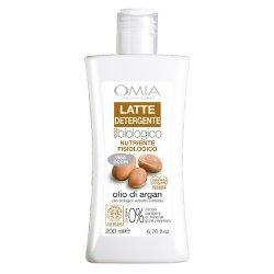 Omia - Latte detergente argan 200 mlNUTRIENTE FISIOLOGICO Compatibilità cutanea e oculare Testate Con Olio di Argan BI