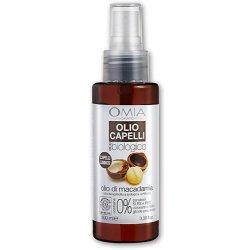 Omia - Olio capelli olio di macadamia 100 mlPRODOTTO ECO-BIOLOGICO. FORMULA IDRATANTE E ILLUMINANTE PER CAPELLI STRESS