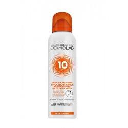 DERMOLAB LATTE SOLARE SPRAY VISO E CORPO SPF10 150 mlLatte solare spray protezione bassa per viso e corpoArricchita co