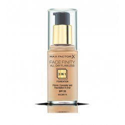 MAX FACTOR PRIMER FONDOTINTA CORRETTORE VISO FACEFINITY ALL DAY FLAWLESS 3IN1 n75 golden