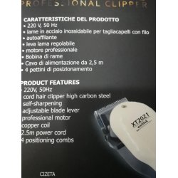 GI&GI RASOIO PROFESSIONALE lame in acciaio inossidabile per capelli e barba ,,autoaffilante,motore professionale,bobina