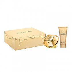 Coffret Parfum Paco Rabanne Lady Million 80ml Lait corps 100ml